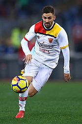 February 11, 2018 - Rome, Italy - Marco DAlessandro of Benevento during the serie A match between AS Roma and Benevento Calcio at Stadio Olimpico on February 11, 2018 in Rome, Italy. (Credit Image: © Matteo Ciambelli/NurPhoto via ZUMA Press)