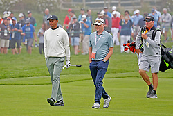 June 12, 2019 - Pebble Beach, CA, U.S. - PEBBLE BEACH, CA - JUNE 12: PGA golfer Tiger Woods walks the 15th hole during a practice round for the 2019 US Open on June 12, 2019, at Pebble Beach Golf Links in Pebble Beach, CA. (Photo by Brian Spurlock/Icon Sportswire) (Credit Image: © Brian Spurlock/Icon SMI via ZUMA Press)