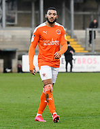 Keshi Anderson (8) of Blackpool during the EFL Sky Bet League 1 match between Bristol Rovers and Blackpool at the Memorial Stadium, Bristol, England on 2 January 2021.
