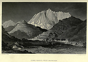 Jebel Kanata, Wady Magharah (approach to Mount Serbal) Steel engraving of from 'Picturesque Palestine, Sinai and Egypt' by Wilson, Charles William, Sir, 1836-1905; Lane-Poole, Stanley, 1854-1931 Volume 4. Published in 1884 by J. S. Virtue and Co, London