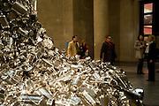Manuela Wirth; Subodh Gupta; Ivan Wirth, Altermodern, Tate Triennial 2009, Tate Britain. London. 2 February 2009 *** Local Caption *** -DO NOT ARCHIVE-© Copyright Photograph by Dafydd Jones. 248 Clapham Rd. London SW9 0PZ. Tel 0207 820 0771. www.dafjones.com.<br /> Manuela Wirth; Subodh Gupta; Ivan Wirth, Altermodern, Tate Triennial 2009, Tate Britain. London. 2 February 2009