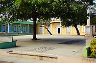 Park in Gibara, Holguin, Cuba.