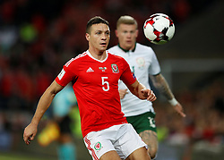 October 9, 2017 - Cardiff, Pays de Galles - Wales' James Chester (Credit Image: © Panoramic via ZUMA Press)
