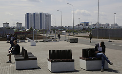 June 14, 2018 - Samara, Russia - June 14, 2018. - Russia, Samara. - Samara Arena, a venue for the 2018 FIFA World Cup matches. In picture: view of city from Samara Arena. (Credit Image: © Russian Look via ZUMA Wire)