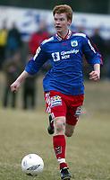 Fotball. 1. divisjon 14. april 2002. Tollnes - Tromsdalen i Skien. Eirik Bertheussen, Tromsdalen.<br /> <br /> <br /> Foto: Andreas Fadum, Digitalsport.