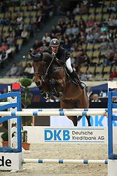 Andersen Lars Bak, (DEN), Cyrus L<br /> DKB-Riders Tour<br /> Grand Prix Kreditbank Jumping München 2015<br /> © Hippo Foto - Stefan Lafrentz