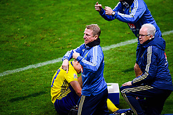 November 20, 2018 - Stockholm, SWEDEN - 181120 Team physiotherapist Fredrik Larsson and doctor . Anders Valentin during the Nations League football match between Sweden and Russia on November 20, 2018 in Stockholm  (Credit Image: © Simon HastegRd/Bildbyran via ZUMA Press)