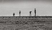 Boys fishing by Railway line - Port Antonio