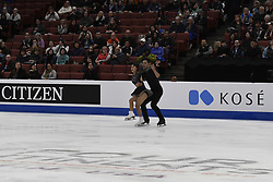 February 8, 2019 - Anaheim, California, U.S - Cheng Peng and yang Jin from China competes in the Pairs Short Program during the ISU - Four Continents Figure Skating Championships, at the Honda Center in Anaheim California, February 5-10, 2019 (Credit Image: © Dave Safley/ZUMA Wire)