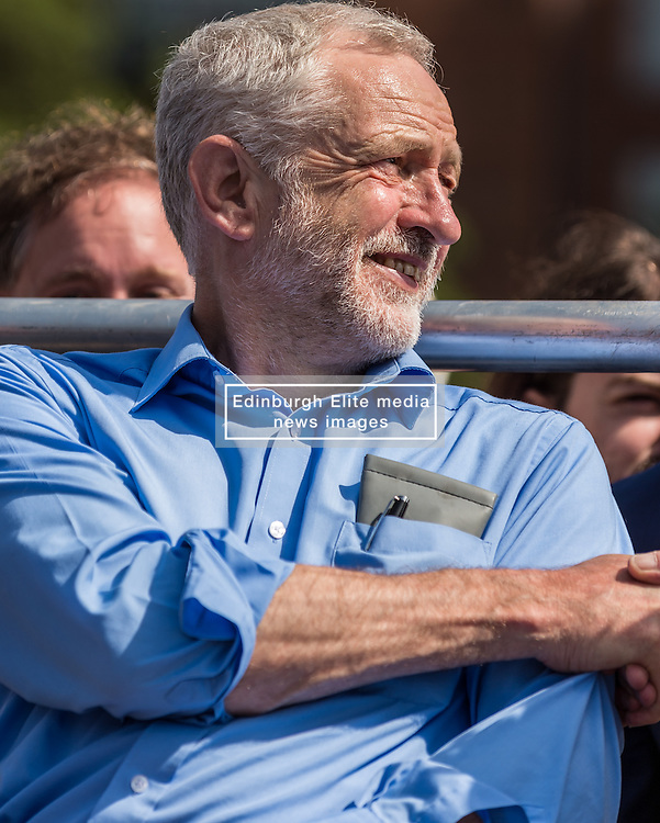 Jeremy Corbyn the Labour Party leader speaking at a leadership campaign rally at Derby Cathedral<br /> <br /> (c) John Baguley   Edinburgh Elite media