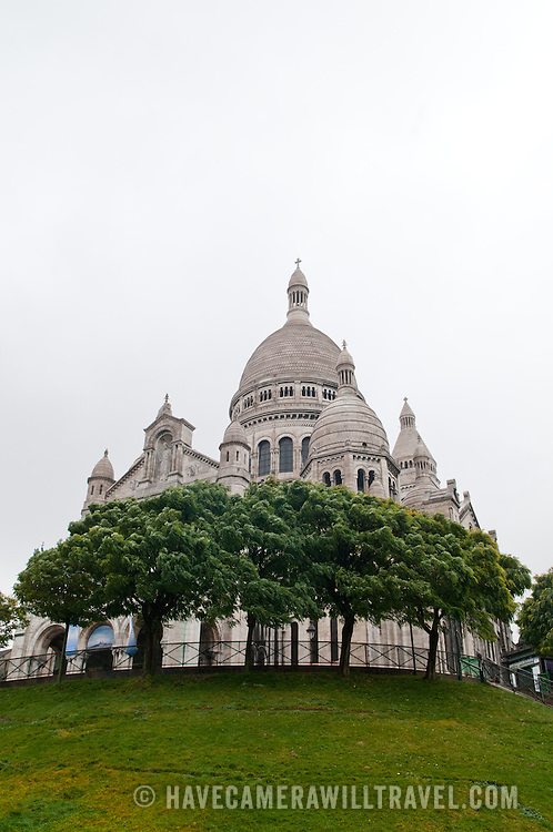 Sacre Coeur Cathedral in Montmartre, Paris.