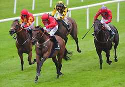 Gordon Lord Bryon ridden by Chris Hayes (second left) wins the Weatherby's Ireland Greenland Stakes at the Curragh Racecourse, Dublin.
