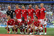 Team of Denmark during the 2018 FIFA World Cup Russia, Group C football match between Denmark and France on June 26, 2018 at Luzhniki Stadium in Moscow, Russia - Photo Thiago Bernardes / FramePhoto / ProSportsImages / DPPI