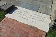 """Newport, RI - Queen Anne Square - The newly redesigned park with the """"Meeting room' monument to Doris Duke by Maya Lin"""