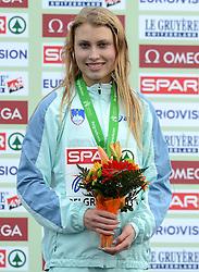 08-12-2013 ATHLETICS: SPAR EC CROSS COUNTRY: BELGRADE<br /> Marusa Mismas of Slovenia wint de bronzen medaille<br /> ©2013-WWW.FOTOHOOGENDOORN.NL