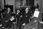 28/04/1964<br /> 04/28/1964<br /> 28 April 1964<br /> Watney Sales Conference at the Shelbourne Hotel, Dublin. At the conference were (l-r): ?; Mr. T. Beechinor; Mr. N. O'Hara and ?.