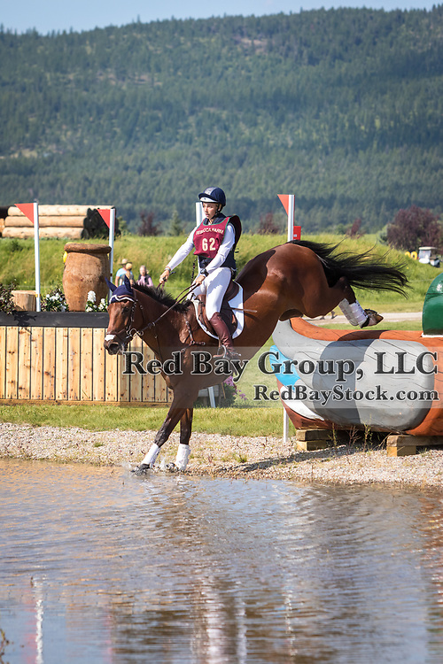 Kalli Core and Cooley Master Courage at the The Event at Rebecca Farm in Kalispell, Montana.