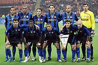 """La Formazione dell'Inter<br /> Team Inter<br /> Milano 22/10/2008 Stadio """"Giuseppe Meazza"""" <br /> Champions League 2008/2009<br /> Inter-Anorthosis (1-0)<br /> Foto Luca Pagliaricci Insidefoto"""