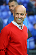 Exeter City Manager Paul Tisdale looks on prior to kick off. Skybet football league two match, Tranmere Rovers v Exeter city at Prenton Park in Birkenhead, the Wirral on Saturday 20th Sept 2014.<br /> pic by Chris Stading, Andrew Orchard sports photography.