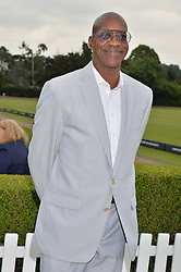 Ed Moses at the Laureus King Power Cup polo match held at Ham Polo Club, Richmond, London England. 22 June 2017.<br /> Photo by Dominic O'Neill/SilverHub 0203 174 1069 sales@silverhubmedia.com