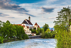 The Franciscan Abby on the banks of the Lech River in Fussen Germany.   There is much more to see in Fussen that just Neuschwanstein Castle.