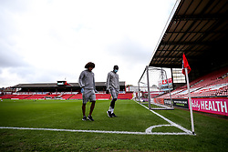 Han-Noah Massengo and Famara Diedhiou of Bristol City arrive at Barnsley - Mandatory by-line: Robbie Stephenson/JMP - 17/10/2020 - FOOTBALL - Oakwell Stadium - Barnsley, England - Barnsley v Bristol City - Sky Bet Championship