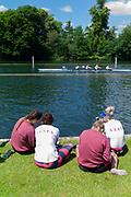 "Henley on Thames, United Kingdom, 22nd June 2018, Friday,   ""Henley Women's Regatta"",  view, Henley Reach, River Thames, England, © Peter SPURRIER/Alamy Live News"