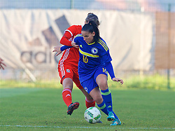 ZENICA, BOSNIA AND HERZEGOVINA - Tuesday, November 28, 2017: Bosnia and Herzegovina's Alma Kamerić during the FIFA Women's World Cup 2019 Qualifying Round Group 1 match between Bosnia and Herzegovina and Wales at the FF BH Football Training Centre. (Pic by David Rawcliffe/Propaganda)