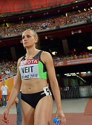 26-08-2015 CHN: IAAF World Championships Athletics day 5, Beijing<br /> Sabina Veit SLO on the 200 m<br /> Photo by Ronald Hoogendoorn / Sportida