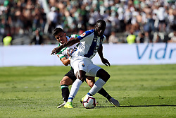 May 25, 2019 - Oeiras, Portugal - OEIRAS, PORTUGAL - MAY 25: Porto's forward Moussa Marega from Mali (R ) vies with Sporting's forward Marcos Acuna from Argentina (L) during the Portugal Cup Final football match Sporting CP vs FC Porto at Jamor stadium, on May 25, 2019, in Oeiras, outskirts of Lisbon, Portugal. (Credit Image: © Pedro Fiuza/NurPhoto via ZUMA Press)