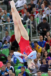 05-04-2015 SLO: World Challenge Cup Gymnastics, Ljubljana<br /> Isabela Maria Onyshko of Canada in Floor Exercise during Final of Artistic Gymnastics World Challenge Cup Ljubljana, on April 5, 2015 in Arena Stozice, Ljubljana, Slovenia.<br /> Photo by Morgan Kristan / RHF Agency