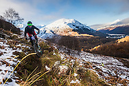 Scott Smith tackles stage one of the Kinlochleven Enduro.