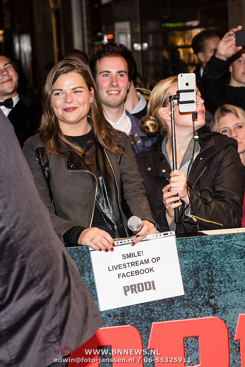 NLD/Amsterdam/20161010 - Premiere Prooi, opname livestream Facebook