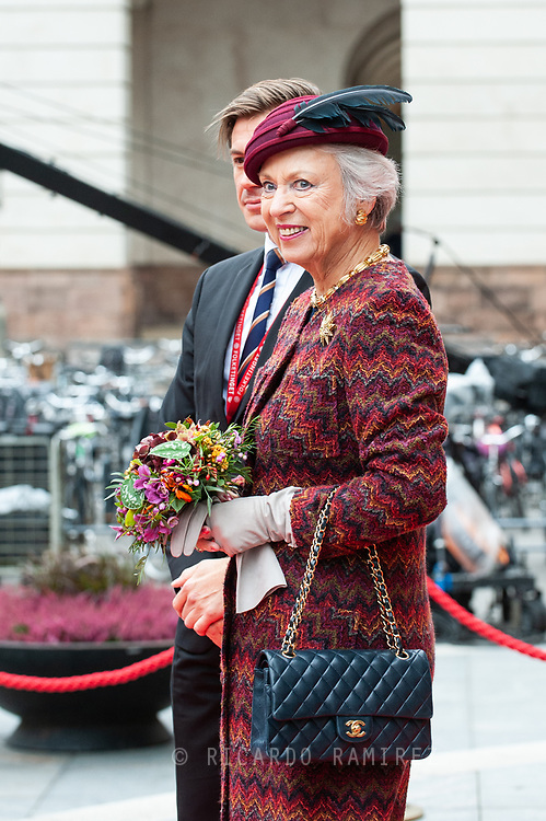 05.10.2021. Copenhagen, Denmark.<br /> Princess Benedikte's arrival to Christiansborg Palace for attended the opening session of the Danish Parliament (Folketinget).<br /> Photo: © Ricardo Ramirez