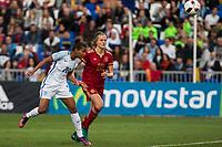 England's Nikita Parris Spain's Irene Paredes during the frendly match between woman teams of  Spain and England at Fernando Escartin Stadium in Guadalajara, Spain. October 25, 2016. (ALTERPHOTOS/Rodrigo Jimenez)