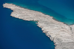 21.06.2015, Pag, CRO, Insel Pag, Die kroatische Insel Pag befindet sich an der Adria-Küste nördlich von Zadar in Norddalmatien. Pag hat eine Länge von 58,25 km und ist mit 284,18 Quadratkilometern der Fläche nach die fünftgrößte Insel der Adria, im Bild View of Pag Bridge. // The Croatian island of Pag is located on the Adriatic coast north of Zadar in northern Dalmatia. Pag has a length of 58.25 km and is 284.18 square kilometers of the area after the fifth largest island in the Adriatic, pitured on 13. June in Pag, Croatia on 2015/06/21. EXPA Pictures © 2015, PhotoCredit: EXPA/ Pixsell/ Dino Stanin<br /> <br /> *****ATTENTION - for AUT, SLO, SUI, SWE, ITA, FRA only*****