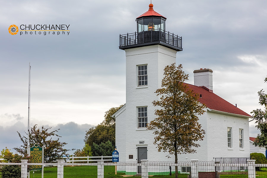 Sand Point Lighthouse in Escanaba, Michigan USA