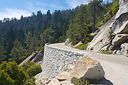 Generals Highway, leading through Kings Canyon National Park, California.
