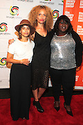 25 August New York, NY- l to r: Actress Zoe Kravitz, Director  Victoria Mahoney, and Actress Gabourey Sidibe at the Imagenation Cinema Foundation Screening of '  Yelling to the Sky ' presented by the Imagenation Cinema Foundation and The Film Society of Lincoln Center held at the Walter Reade Theater at Lincoln Center on August 25, 2011 in New York, NY. Photo Credit: Terrence Jennings