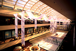 Stock photo of the Houston Galleria skating rink and main concourse.