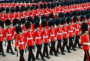 Soldiers parading during Trooping the Colour, London, England, United Kingdom