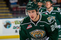 KELOWNA, BC - FEBRUARY 15: Gianni Fairbrother #24 of the Everett Silvertips skates against the Kelowna Rockets  at Prospera Place on February 15, 2019 in Kelowna, Canada. (Photo by Marissa Baecker/Getty Images)