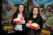 NO FEE PICTURES <br /> 19/4/15 Mia Quirke, age 11, Clondalkin and Susie Ward, 11, Kildare at the Irish Premiere of Two by Two at the Savoy cinema in Dublin. Picture:Arthur Carron