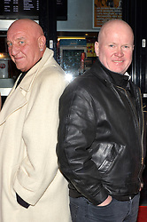 Pictured is London Gangster Dave Courtney and Eastender Steve McFadden.<br /> London gangster Dave Courtney arrives on the red carpet for the film premiere of 'Full English Breakfast' that he stars in, at The Prince Charles Cinema, London, UK.<br /> Tuesday, 25th March 2014. Picture by Ben Stevens / i-Images