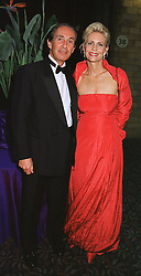 MR JEROME BILET and ALEXANDRA GUINNESS, COMTESSE DE QUATREBARBES, at a ball in London on 25th May 1999.MSM 8