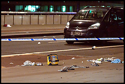 June 3, 2017 - London, London, United Kingdom - Image ©Licensed to i-Images Picture Agency. 03/06/2017. London, United Kingdom. .London Bridge Attack. .Pieces of medical equipment and possible peoples belongings  left on London Bridge after reports of a terror attack..Picture by Gustavo Valiente / i-Images (Credit Image: © Gustavo Valiente/i-Images via ZUMA Press)