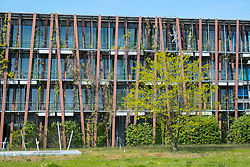 Exterior detail of Lise-Meitner-Haus building, Institute of Physics, part of Humboldt University the Science and Technology Park in Adlershof Berlin, Germany