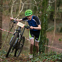 Sabian Kulzynski from Clarecastle competing in the Ennis CX Cyclocross Race at Lees Rd, Ennis