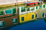 Canal reflections, Burano, Veneto, Italy