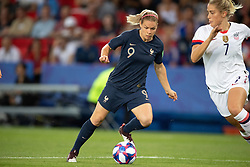 Eugenie Le Sommer of France and Abby Dahlkemper of United States in action during the quarterfinal match in the FIFA Women's World Cup France 2019 at Parc des Princes stadium on June 28, 2019 in Paris, France.<br /> Photo by David Niviere/ABACAPRESS.COM